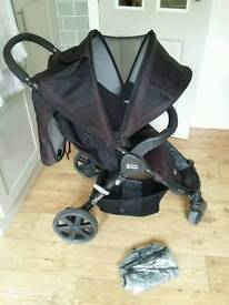 Britax b Agile 4 wheeled pushchair. Compact fold