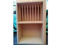 wall mounted dish rack/open cupboard, traditional H 72cm W 47 D 30cm