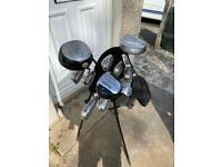 Set of Golf Clubs + Nike Golf Bag