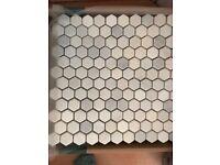 Fantastic hexagon marble mosaic tiles
