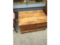 Wooden chest/blanket box great for storage . Size L 35in D 24in H 20in. Free local delivery.