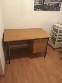 Desk with key to draw