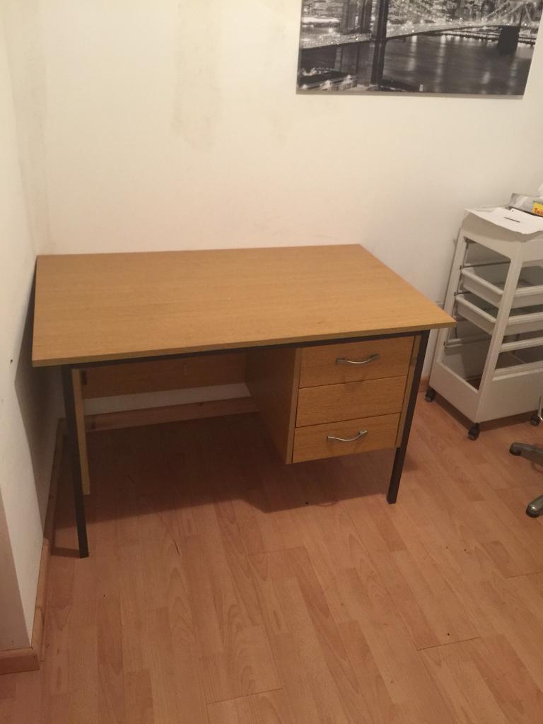 Desk with key to draw