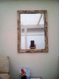 Driftwood mirror beveled edge