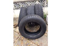 Set of 4 Avon Ranger Ice Winter Tyres 235x65x17, Suitable for 4x4 SUV