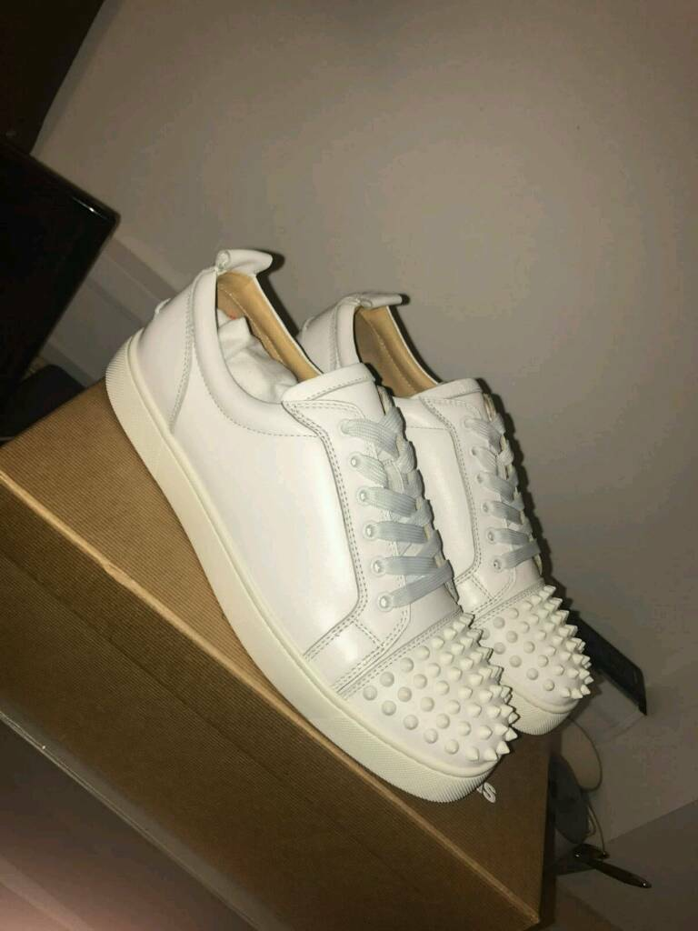 new styles b0e4f c2234 Christian louboutin junior spike white low top trainers size 8 | in  Birmingham, West Midlands | Gumtree