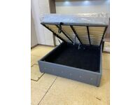 👌👌 BRAND NEW FAUX LEATHER DOUBLE/KING SIZE OTTOMAN STORAGE BED FRAME WITH MATTRESS OF CHOICE
