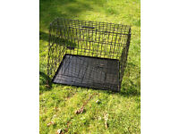 Ellie-Bo Sloping Puppy Cage Folding Dog Crate with Non-Chew Metal Tray & Slanted Front