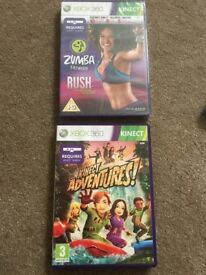 2 Xbox 360 Kinect game/DVD