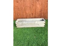 Large Wooden Box Planter (2 available - £65 each, £130 for both)
