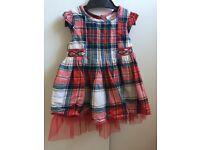 Baby girls up to 3 months tartan dress Next - £3.50