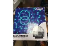 Led crystal ball in box with manual
