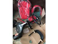 Stokke Xplory V5 Pushchair buggy + Carry cot + Footmuff + more