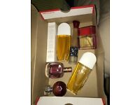 Box of assorted perfume