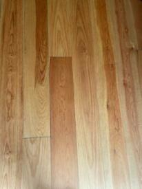 Finished solid pine floor