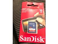 Brand new sd memory card 16gb sandisk Great price