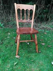 Solid pine kitchen/dining chair