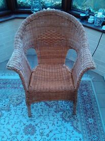 2 Conservatory chairs (reed weave)
