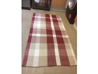 HOME HERITAGE CHECK RUG 12.00\each free delivery