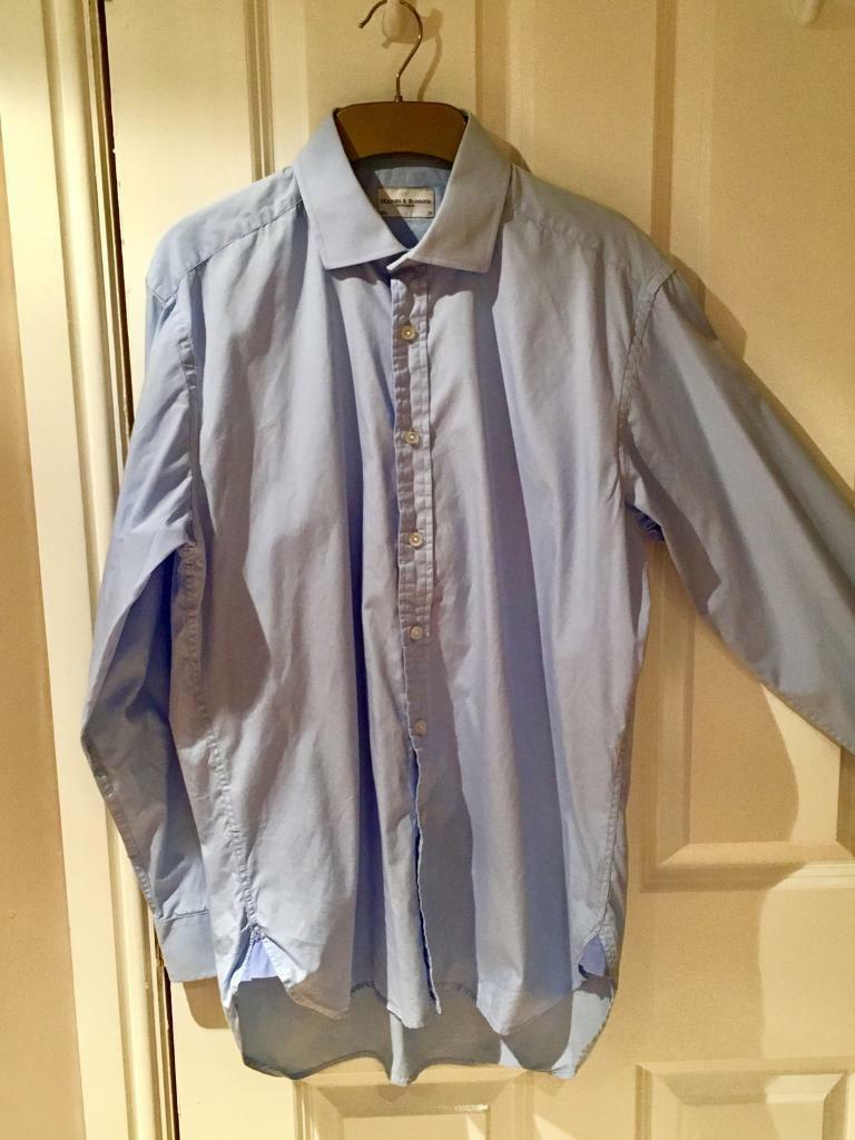 Blue shirt by Haines & Bonner size 15 1/2