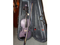 Harlequin Full Size Violin from Stentor in Purple