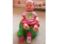 Baby Doll, Bath and Potty Set