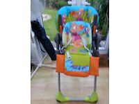Chicco High Chair with detachable feeding tray.