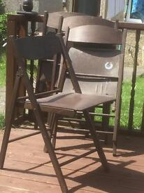 4 Wooden fold up Chairs