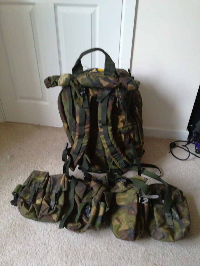 Military Bergen and webbing