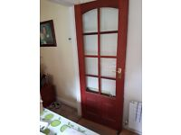 Solid wood glazed doors