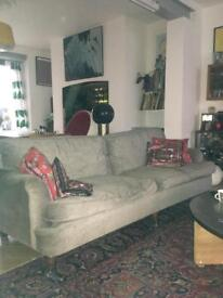 John Lewis grey sofa excellent condition