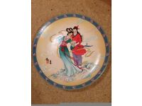 Imperial Jingdezhen Legend of the West Lake 1990 unused 8 Chinese plates in boxes with description