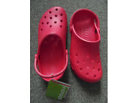 New - Red Crocs Size 8-9 Roomy Fit
