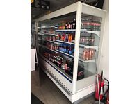 PERFECT CONDITION RETAIL FRIDGES WITH PLASTIC COVERS