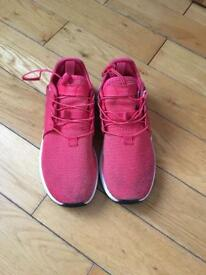 Girls pink Adidas trainers