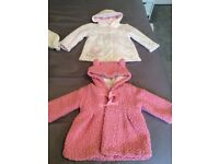 Baby girl 4 x coats/jackets size 3-6 months Next, George