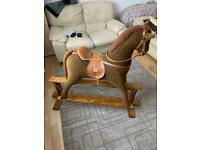 High quality wooden base rocking horse