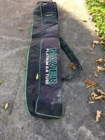 Maver platinum black and green 6-8 tube holdall