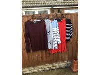 5 Ladies Jumpers, Mixed Colours size M