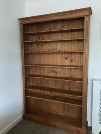 Quality tall solid pine bookshelf