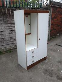good condition wardrobe plus dressing table 2 in one good bargain price £35