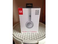 brand new unopened beats solo3 wireless special edition silver headphones