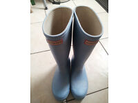 Pale Blue size 3 Hunter boots £12