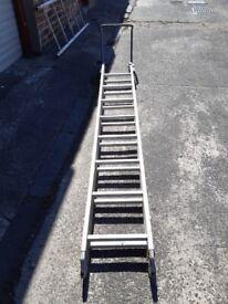 Foldable roof ladder