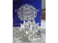 Kensington Crystal Collection Flower Candle Holder BNIB x 2