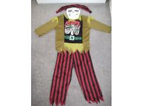 Zombie Pirate Kid's Halloween Costume Age 9-10 from Marks & Spencer