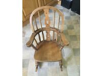 Solid oak child's rocking chair excellent condition