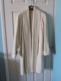 Vintage M&S Cream Swing Coat