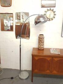 Mid Century Vintage Chrome Arc lamp