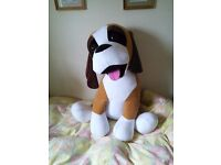Large soft toy dog
